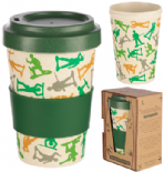 Toy Soldier Reusable Screw Top Bamboo Travel Mug